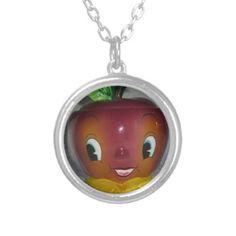 #Vintage Holt Howard #Anthropomorphic Apple Necklace by #crazy4me