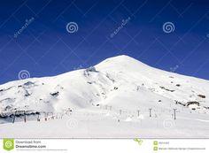 Slopes, on the slopes of the volcano Villarrica, Araucania region, Chile.