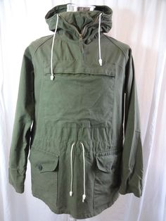 Vtg British olive cotton army windproof mountain smock parka cadet jacket  £134.00 (8B)