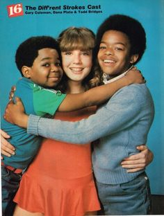 Diff'rent Strokes - Arnold (Gary Coleman); Kimberly (Dana Plato) and Willis (Todd Bridges)