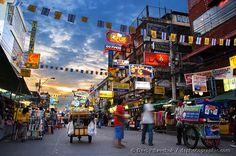 Khaosan Road, Thailand. And a whole lot more Thailand Info @ http://islandinfokohsamui.com #Thailand #Samui #tours @islandinfosamui