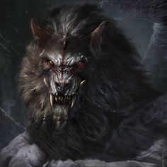 Images of Demon Werewolf Art Dark Creatures, Mythical Creatures Art, Mythological Creatures, Dark Fantasy Art, Fantasy Artwork, Werewolf Art, Alpha Werewolf, Fantasy Beasts, Vampires And Werewolves