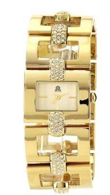 Elegante horloge met swarovski kristallen