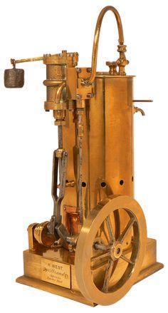 Le Compendium - moteur à vapeur - machine à vapeur - locomotive - H. WEST - Le Compendium