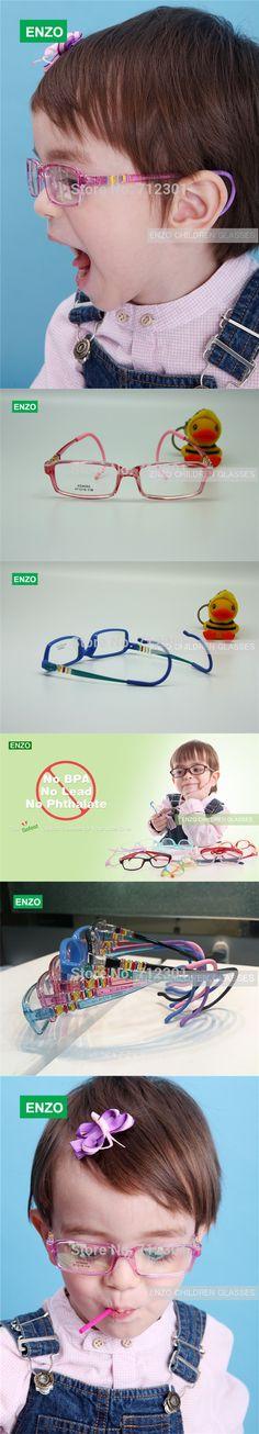 Student Optical Glasses Frame Size 47mm with Ear Grip, Bendable Frame Ear Lock Children Eyeglasses, Plastic Kids Eyewear Frame