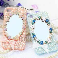Small Flowers Mirror with Bow DIY Handmade Phone Case Cover Deco Den Kits | eBay
