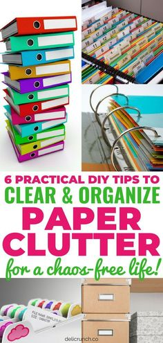 How to get rid of and deal with paper clutter? Eliminate and organize paper clutter with these DIY paper clutter organization tips and solutions! Effective organization filing system and hacks for office, kitchen, school and life in general! Organisation Hacks, Home File Organization, School Office Organization, Organizing Paperwork, Clutter Organization, Organizing Ideas, Organizing Paper Clutter, Organization Station, Household Organization