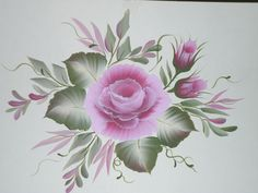 one stroke painting, a rose
