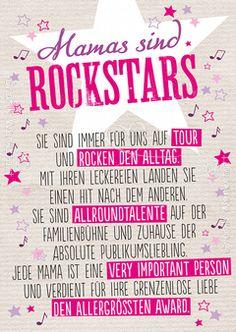 Mamas sind Rockstars - Postkarten - Grafik Werkstatt Bielefeld