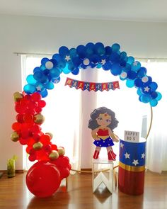 Hero Girl, Birthday Decorations, Cheer Skirts, Birthdays, Wonder Woman, Party, Ideas, Sunflower Party, Infant Costumes