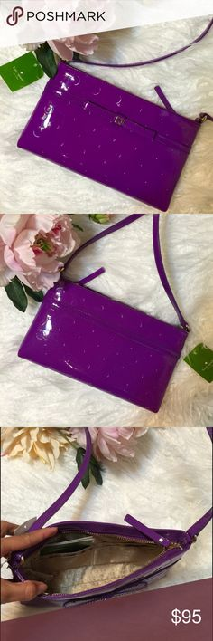 """Kate Spade Camellia Street Crossbody Bag Baja Rose Super cutr cross bodybag! Its great for day-night or even travel. Zip closure with pull-patent leather strap approx 22"""". Inside Kate spade print lining - four slip pocket all on one side. Approx 9. 1/2 long x 5 1/2"""" high x 1 1/2"""" deep. NWT kate spade Bags Crossbody Bags"""