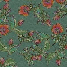 Shy Fleurs - Tattooed Jade Dragon fabric by glimmericks on Spoonflower - custom fabric