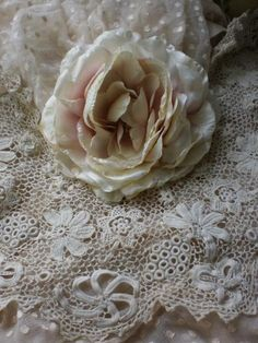 vintage millinery rose and lace