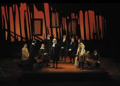 This is a compelling set design for The Crucible. Colour is used in amongst the dark set. Design Set, Set Design Theatre, Prop Design, Stage Design, Event Lighting, Lighting Design, Desgin, Stage Set, Scenic Design
