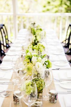 Long low centerpieces