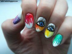 Day 9: rainbow nails