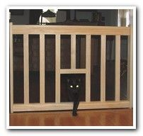 Gates 2U Cat Escape Gate - Has a Cat Door - Holds Dogs back and lets kitty roam