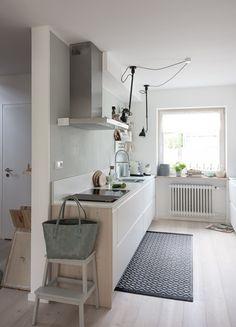 Offene Küche Im Reihenhaus Küche Grifflos   Küche Weiß Matt   Küche  Einrichten   Reihenhaus Renovieren