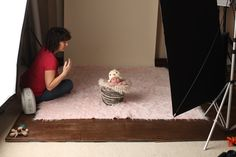 always start with the beanbag poses first and then move to the prop shots. I usually only do 1-3 prop set ups per session. I tend to do them last since the newborns are sleeping more soundly at that point. I NEVER place an awake baby in a prop. I also always talk to the parents about which props are their favorites.