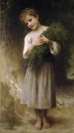 Returned From The Fields by William-Adolphe Bouguereau. Love his faces...