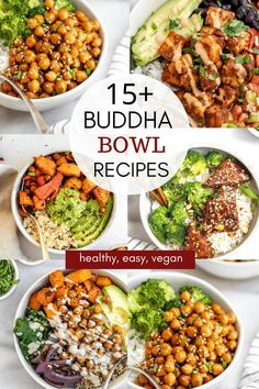 Vegetarian Recipes Dinner, Lunch Recipes, Whole Food Recipes, Salad Recipes, Plats Healthy, Meal Prep Bowls, Easy Healthy Recipes, Healthy Snacks, Easy Plant Based Recipes
