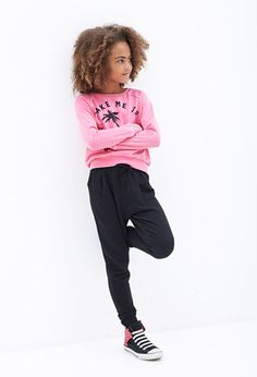 Textured-Knit Joggers (Kids) | Forever 21 girls - 2000102605