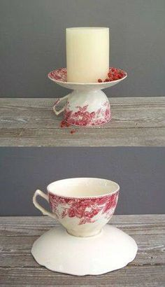 Re-purpose tea cups and saucers Re-purpose tea cups and… – thrift store crafts upcycling Home Crafts, Diy And Crafts, Arts And Crafts, Cheap Christmas Gifts, Christmas Crafts, Christmas Wedding, Vintage Christmas, Homemade Gifts, Diy Gifts