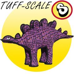 This giant Stegosaurus is durable, squeaky and fun! Made with multi-layer and multi-stitching technology, this Tuffy toy is made to last and endure a rough player. This is also one of Hush's favorite toys!