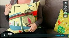 VIDEO: SEW A ZIPPERED PILLOW
