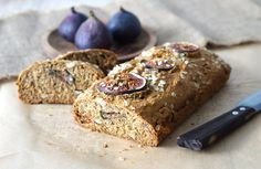 This fig and nut bread makes the perfect healthy breakfast or afternoon snack.