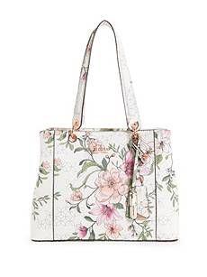 9a5202c136b Kamryn Floral Shopper Tote   GUESS.com   缝衣   Shopper tote ...
