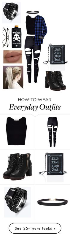 """Everyday Outfit"" by jarcamba on Polyvore featuring WithChic, Lands' End, Humble Chic and Current Mood"