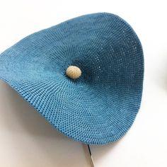 ハットピン/藍の生葉染め