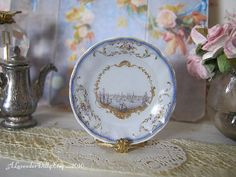 Stadhouder Dollhouse Plate by alavenderdilly on Etsy, $4.25