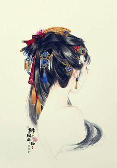That's so perty Art Asiatique, China Art, Wow Art, Chinese Painting, Grafik Design, Traditional Art, Japanese Art, Art Inspo, Art Girl