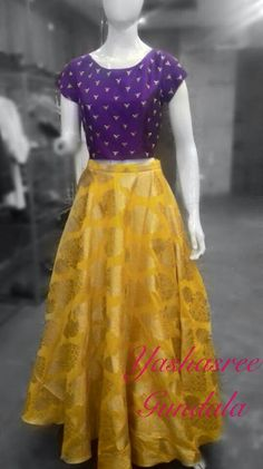 Like the texture top, not the cap sleeves or skirt bottom finish Saree Blouse Neck Designs, Lehenga Designs, Blouse Designs, Lehenga Choli Latest, Sarees, Indian Dresses, Indian Outfits, Frocks And Gowns, Indian Bridal Lehenga
