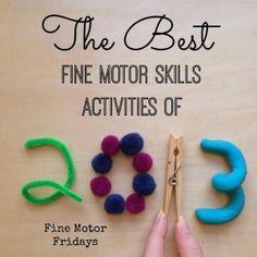 The Best Fine Motor Skills Activitiees of 2013 {Fine Motor Fridays} | Stir the Wonder #kbn #finemotorfridays