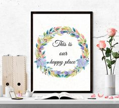 $4 this is our happy place Home Quote Printable Art / Home printable / by SoulPrintables