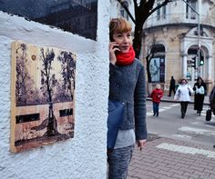 I Hang Woodprints Around Cluj, Romania For People To Find And Take Home