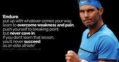 Want to take your game to another level? These 20 powerful Rafael Nadal quotes develop your will to win. Tennis Clubs, Tennis Players, Psych Quotes, Life Quotes, Tennis Videos, Nadal Tennis, Tennis Lessons, Respect Life, Tennis World