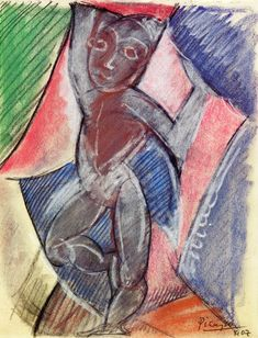 pablopicasso-art:    Nude with raised arms, 1907 Pablo Picasso