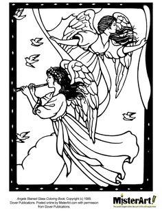 Free Coloring Heavenly Angel