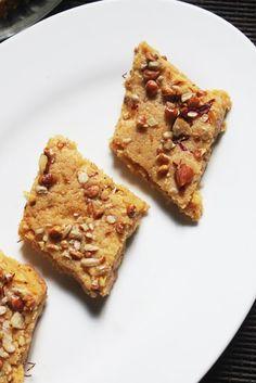 YUMMY TUMMY: Besan Khoya Burfi Recipe - Mawa Besan Barfi Recipe - Gram Flour Fudge Recipe - Easy Diwali Sweets