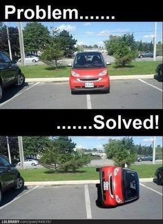 Check out: Funny Memes - Problem solved. One of our funny daily memes selection. We add new funny memes everyday! Bookmark us today and enjoy some slapstick entertainment! Funny Shit, The Funny, Funny Jokes, Funny Stuff, Funny Captions, Funny Ads, Freaking Hilarious, Funny Signs, Bad Parking