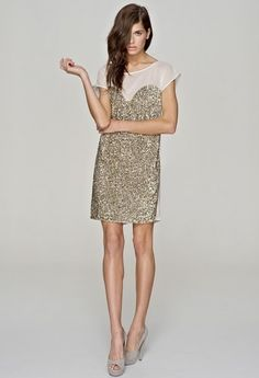 golden sparkle party dress
