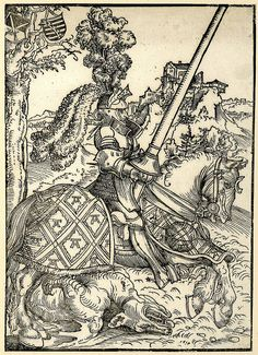 Lucas Cranach the Elder - St George on Horseback with the Dead Dragon (Metropolitan Museum of Art) ルーカス・クラナッハ Medieval Drawings, Medieval Art, Renaissance Art, Medieval Knight, Hieronymus Bosch, Wassily Kandinsky, Dead Dragon, Maximilian I, Saint George And The Dragon