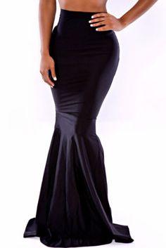 Jupe extra longue noire, forme sirène, pour femmes grandes ou look bohème, hippie chic