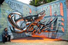 Funny pictures about This Graffiti Is Mind-Blowing. Oh, and cool pics about This Graffiti Is Mind-Blowing. Also, This Graffiti Is Mind-Blowing photos. 3d Street Art, Amazing Street Art, Street Art Graffiti, Street Artists, Street Mural, Illusion Kunst, Illusion Art, Urbane Kunst, Art Optical