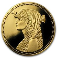 Egypt 1984, £100 gold proof coin featuring Queen Cleopatra VII.