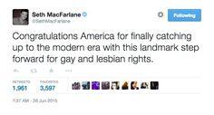 Pin for Later: Les Célébrités Réagissent à la Légalisation du Mariage Gay aux Etats-Unis Seth MacFarlane